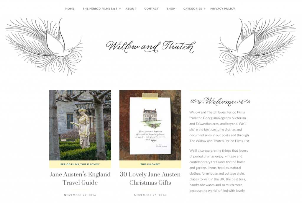 Jane Austen's England featured on Willow and Thatch